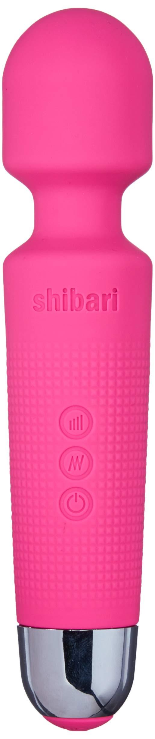 """Shibari Mini Halo, """"The Original"""" Compact Power Wand Massager, Wireless, 20x Multi-speed Vibrations (Pink)"""