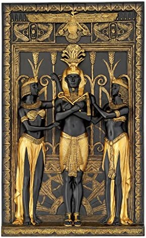 Design Toscano WU76515 Egyptian Pharaoh and His Maidens Wall Sculpture