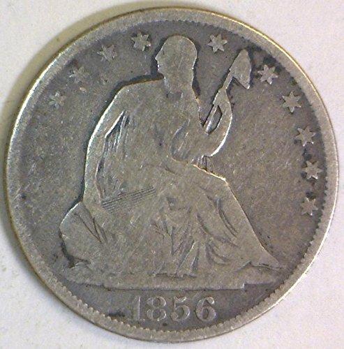 1856 P Seated Liberty Half Dollar G-VG (1856 Half Dollar)