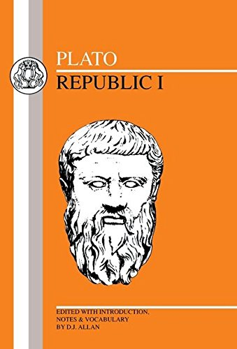 Plato: Republic I (Greek Texts) (Bk.1) by Brand: Bristol Classical Press