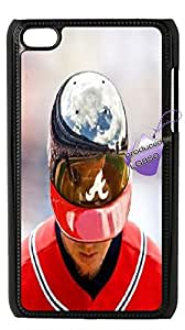 Back case for iPod touch4,cases for iPod touch4,iPod touch4 cover case,DIY Chipper Jones case with Bknso_9484703(Black).