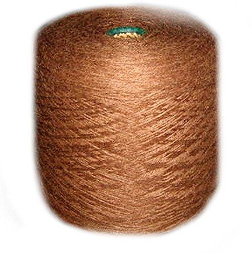 Alpakaandmore Peruvian Andean Alpaca wool 1000 Gramm knitting yarn Cone (Brown)