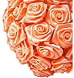 144 Silk Mini Wrap Roses Wedding Shower Flower Picks - Peach