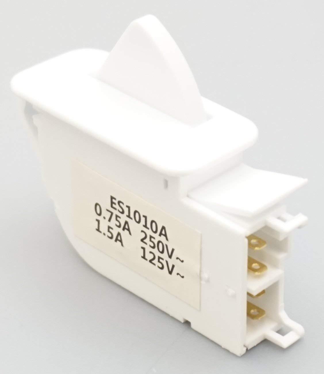 Supco ES1010A Refrigerator Light Switch for LG, AP4442090 PS3529268, 6600JB1010A