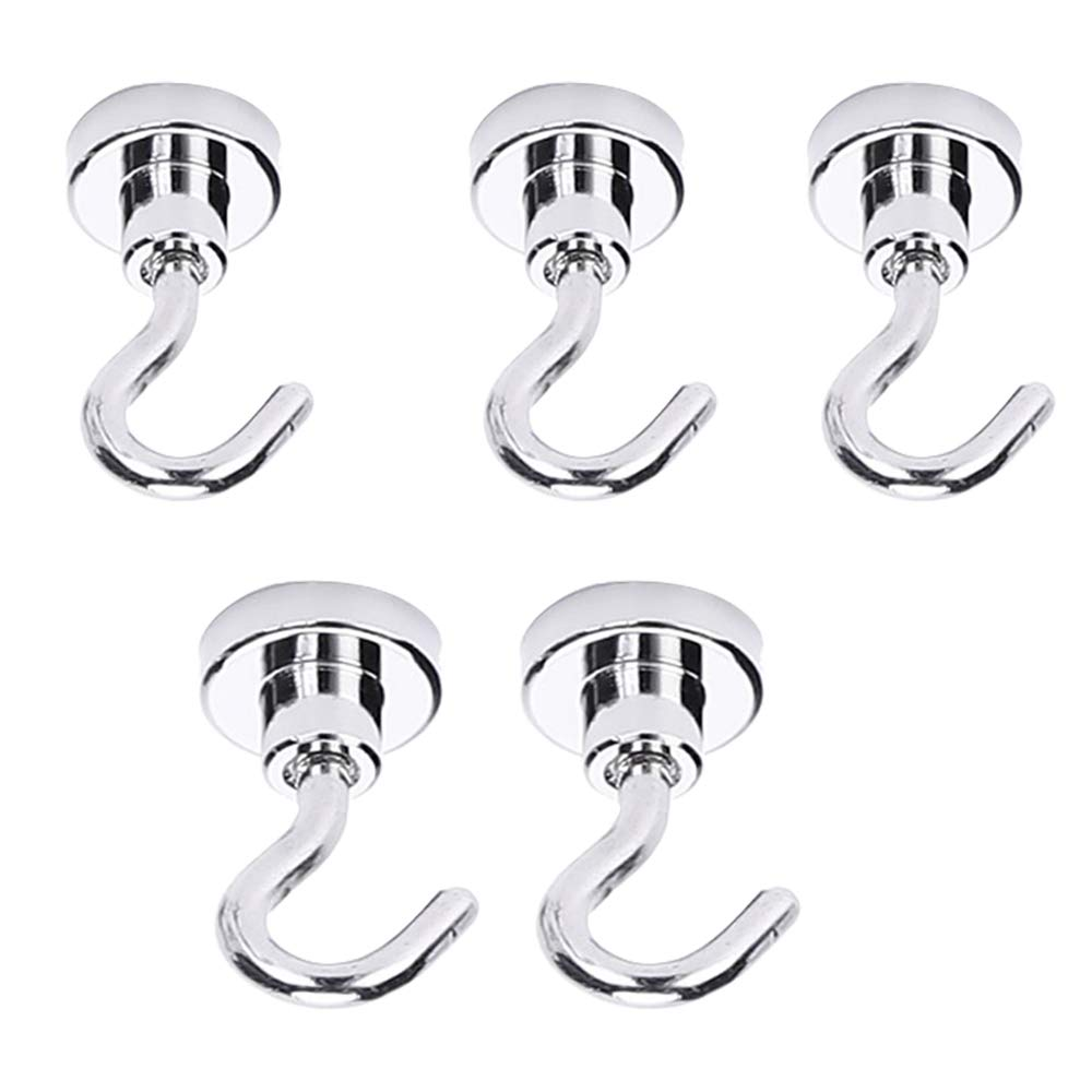Magnetic-Hooks- Heavy Duty Magnetic Hooks for Hanging in The Classroom,Refrigerator,Kitchen,Office(3 for 40lb,2 for 60lb,Pack of 5)