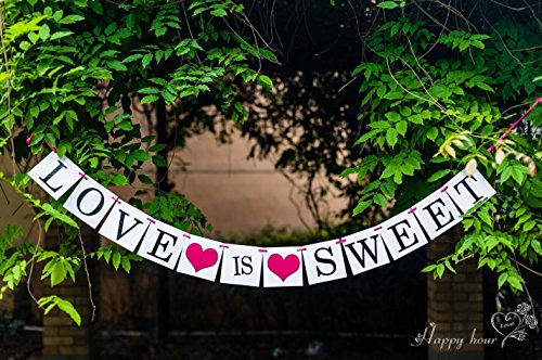 Sweet Love Letters (LOVE IS SWEET Letter and Love Heart for Bachelorette Party and Bridal Shower Banner)