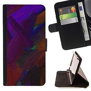 For Samsung Galaxy A3 Case , Vibrante pintura marrón Petróleo- la tarjeta de Crédito Slots PU Funda de cuero Monedero caso cubierta de piel
