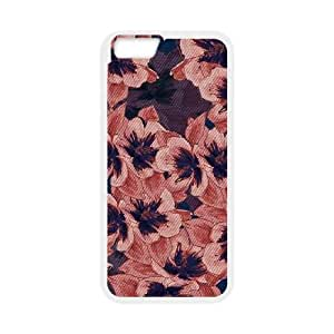 iPhone 6 Plus 5.5 Inch Cell Phone Case White Dark Tapestry Floral OJ471332