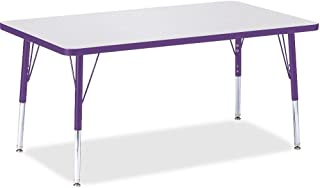 """product image for Jonti-Craft Berries 6473JCE004 Rectangle Activity Table, E-Height (15""""-24"""" Adjustable Height), 30"""" x 48"""", Gray/Purple/Gray"""