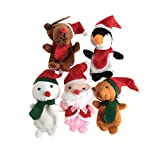 Kocome 5Pcs Cute Finger Puppets Kids Educational Hand Toy Story Christmas Toy Children