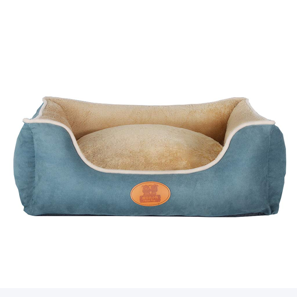A S A S Dog Bed Soft Washable Pet Basket Bed Cushion with PP Foam LiningFour Seasons Available for Medium & Large Dogs Cats (color   A, Size   S)