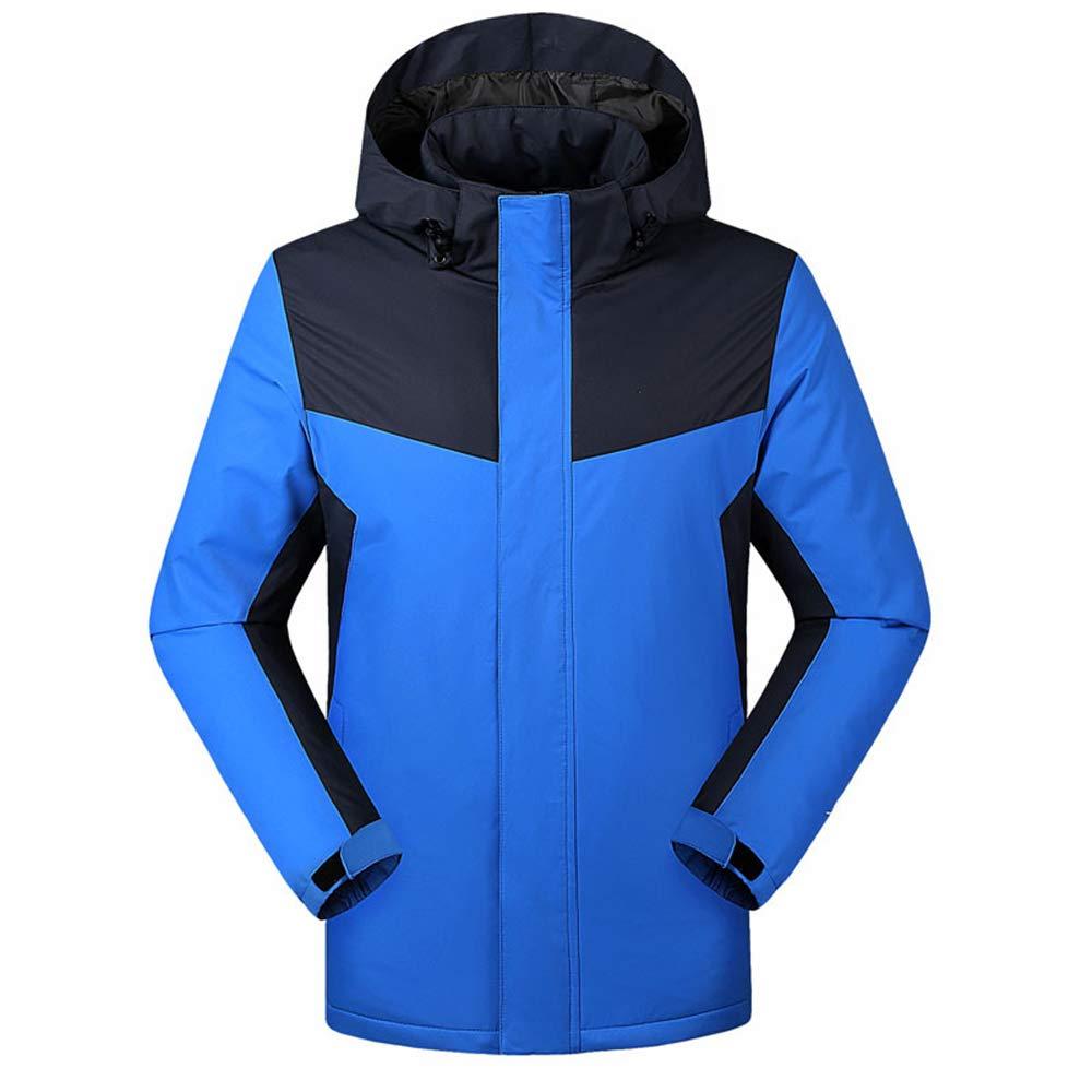 WULAU Beheizte Jacke, Heizjacke Hoodie mit USB-Kabel, Winddichte Winterjacke, Unisex für den Außenbereich