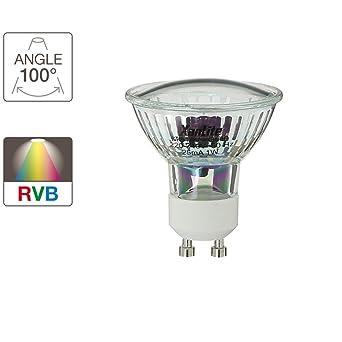 4w Gu10 Leds 1 Xanlite Ampoule Alg21rvb W Change RvbVerre1 21 RLqS534cAj