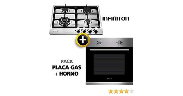 Pack Horno + Placa Gas INFINITON (Placa de Gas mas Horno multifuncion, Pack Ahorro) (Gas + Horno): Amazon.es: Grandes electrodomésticos