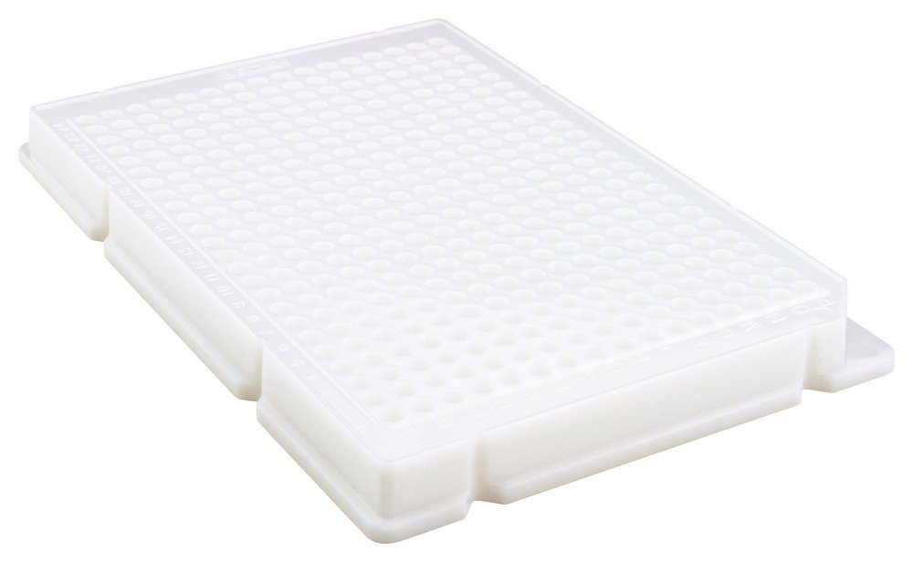 Caplugs Evergreen 290-8221-W10 384-Well Plates. Polystyrene, White, Box pack by Caplugs