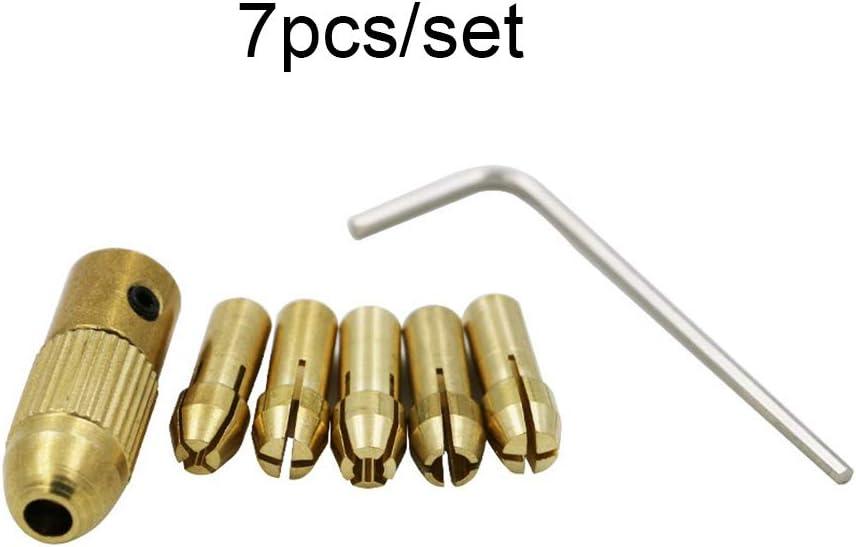 Fgyhty 5Pcs Set Drill 0.5-3mm Piccolo Elettrico Bit Collet Micro Twist Chuck Kit Strumenti Drill Accessori