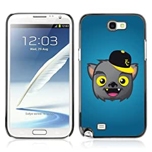 Designer Depo Hard Protection Case for Samsung Galaxy Note 2 N7100 / Cute Werewolf