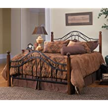 Hillsdale Furniture 1010BQR Madison Bed Set with Rails, Queen, Textured Black