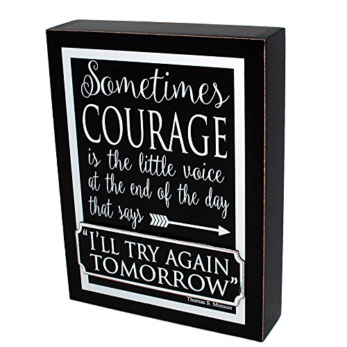 Decorative Courage Quote Wooden Sign product image