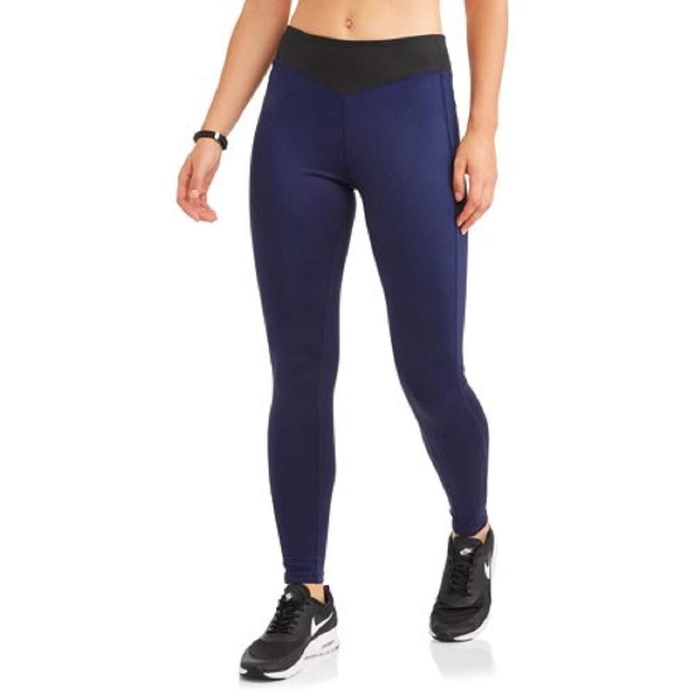 bluee Sapphire Athletic Works Women's Dri More Core Yoga Ankle Leggings