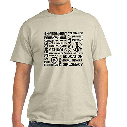 CafePress Liberal Values 2 Ash Grey T-Shirt - 100% Cotton T-Shirt (Value Liberal T-shirt)