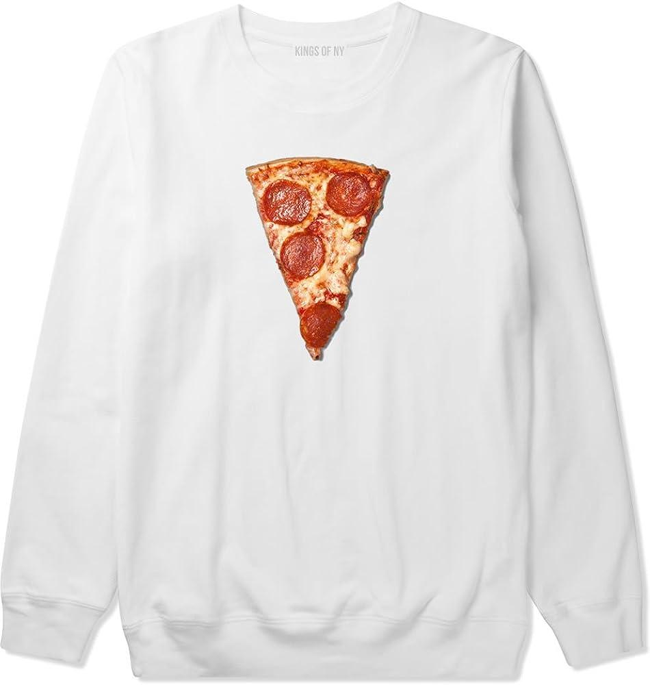 Kings Of NY Real Pizza with Pepperoni Emoji Meme Mens Crewneck Sweatshirt