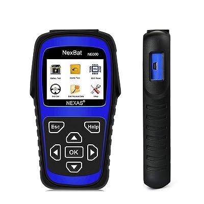 12V / 24V 100-2000 CCA Appareil de contrôle de charge de batterie automobile, outil d'analyse du système de charge de démarrage et de chargement de voiture pour poids lourds, voitures, motos et plus Cuisine & Maison