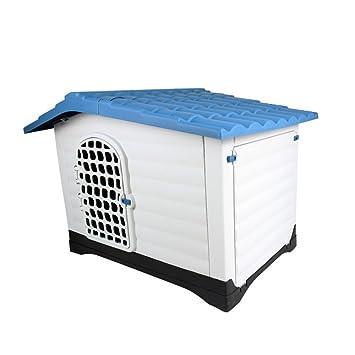 Jomax Caseta de plástico para perro para exterior, cálida y lavable