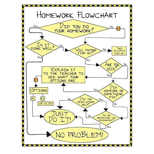 Math Classroom Decorations (Geyer Instructional Products 502029 Homework Flowchart Poster, 17