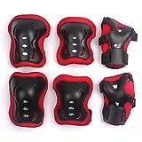 Eruner Children's Roller Blading [Knee Pads] - 6 Pcs Knee Wrist Elbow Pads Guard Skating Ski Biking Protective Gear