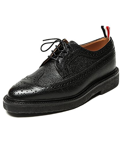 wiberlux-thom-browne-mens-thick-soled-pebbled-real-leather-wingtip-oxfords-us-70-uk-60-black