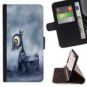BullDog Case - FOR/Sony Xperia M2 / - / Sad Mouse /- Monedero de cuero de la PU Llevar cubierta de la caja con el ID Credit Card Slots Flip funda de cuer