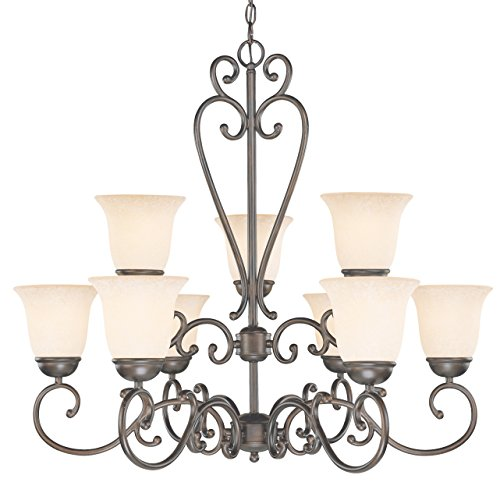 Classic Lighting 71066 ORB Cape Cod, Wrought Iron, Chande...
