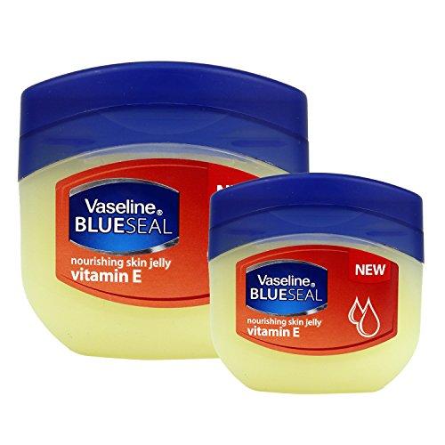 (2 PACK) VASELINE BlueSeal Gentle Petroleum Jelly (Vitamin E), Lip therapy Portable Small Vaseline (Vaseline Petroleum Jelly Ingredients)