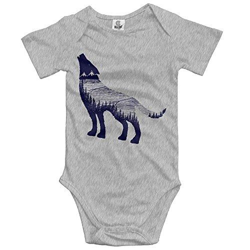 Baby Wolf Dreams Unisex Toddler Bodysuit Summer Short Sleeves Romper Jumpsuits