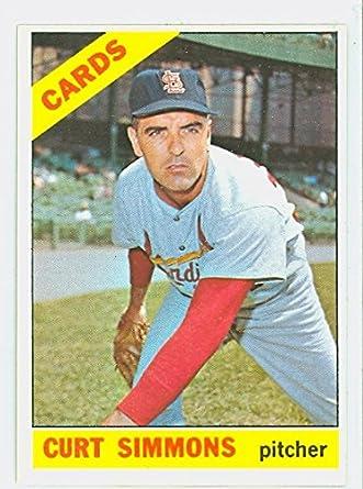 Amazoncom 1966 Topps Baseball 489 Curt Simmons Semi High