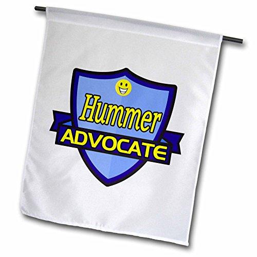 Hummer Blanket (Dooni Designs – Funny Sarcastic Advocate Designs - Hummer Advocate Support Design - 12 x 18 inch Garden Flag (fl_242668_1))