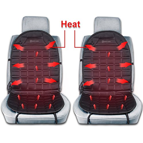 Zento Deals 2Pack 12V Heated Car Seat Cushion Premium Quality Adjustable Temperature Heating Pad Pain - Drive Premium Outlet International