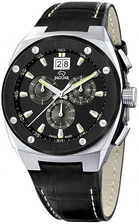Jaguar J620/C - Reloj de pulsera de hombre, correa de piel color negro: Jaguar: Amazon.es: Relojes