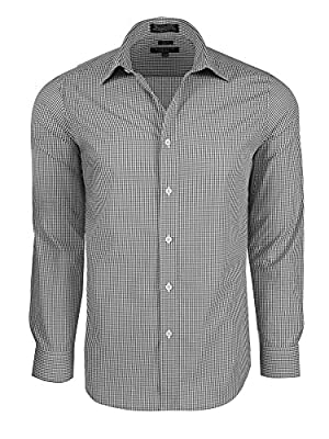 Men's Slim Fit Gingham Check Dress Shirt - Many Colors Available