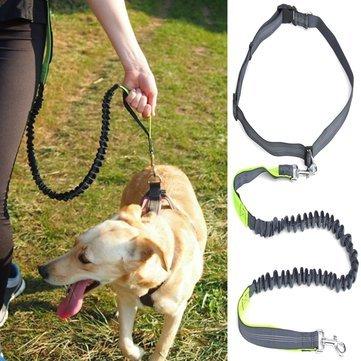 Adjustable Waist Belt Hand Dog Lead Belt Hands Free Leash Dog Lead with Waist Belt for Jogging Walking Running Adjustable (Waist Belt for Lead Dog)