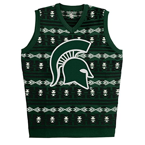 Michigan State Aztec Print Ugly Sweater Vest -