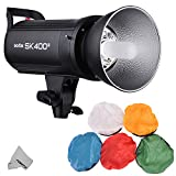 Fomito Godox SK400II Professional Studio Strobe Flash Built-in Godox 2.4G Wireless X System GN65 5600K AC100-120V/60Hz