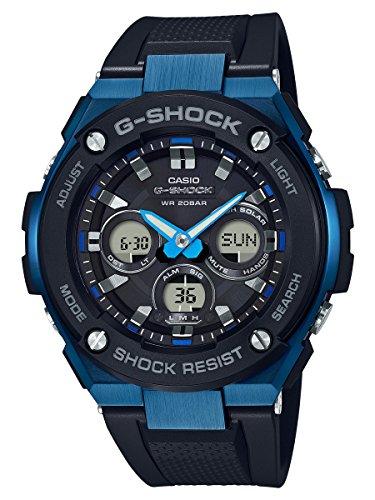 Casio G-Shock G-STEEL SLIM Mens Tough Solar Black Blue Watch GSTS300G-1A2 - 51YunHK0VgL - Casio G-Shock G-STEEL SLIM Mens Tough Solar Black Blue Watch GSTS300G-1A2