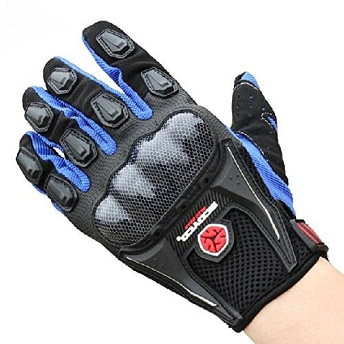 UXOXAS Winter Warm Windproof Protective Full Finger Sports Racing cling Motorcle Gloves, black&blue-m, black&blue-m