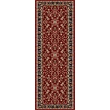 Universal Rugs 4790 Sensation Transitional Runner, 2-Feet 3-Inch by 7-Feet 3-Inch, Red