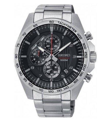 - Seiko Mens Chronograph Quartz Watch with Stainless Steel Strap SSB319P1