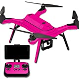 MightySkins Protective Vinyl Skin Decal for 3DR Solo Drone Quadcopter wrap cover sticker skins Solid Hot Pink