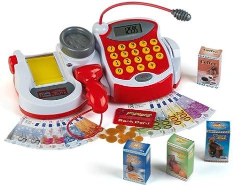 Theo Klein-9373 Caja Registradora Electrónica Shopping Centre con Numerosas Funciones, Juguete, Multicolor (9373)