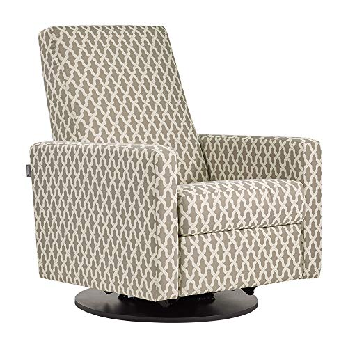 Dutailier Swivel Glider - Dutailier Minho 0437 Upholstered Glider Recline and Swivel with Built-in Footrest